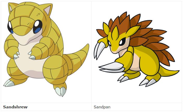Quá trình tiến hóa của Pokemon Sandslash