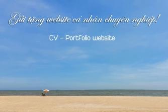 Gửi tặng website cá nhân xịn xò cho các Content-er